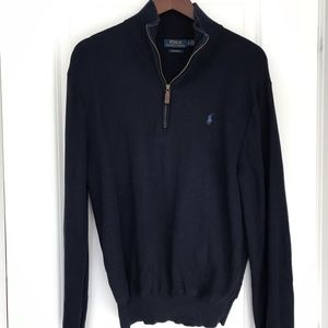 Polo Ralph Lauren Men's Textured Half Zip Sweater
